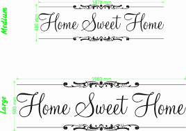radiant home sweet home quote wall art decal vinyl sticker wall home sweet home quote size chart wall art decal vinyl sticker