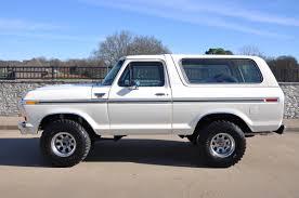 white bronco car 1978 ford bronco ranger xlt 4x4