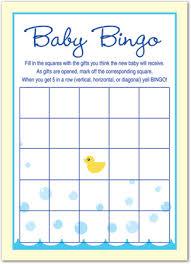 baby shower bingo yellow duck blue border baby shower bingo bingo cards 37893