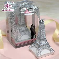 eiffel tower favors eiffel tower candles in gift box wedding bridal shower party favor