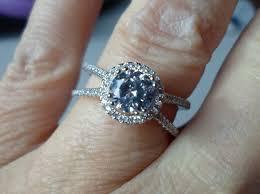 qvc wedding bands 925 sterling platinum qvc diamonique cz unique halo x band ring