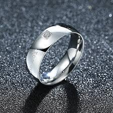 silver steel rings images Elegant titanium steel ring couple male models jewelry rings jpg