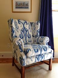 How Much Fabric To Reupholster A Sofa Furniture How To Reupholster A Wingback Chair With Maroon Color