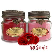 amazon com romantic gift scented candles 2 pack perfect