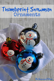 homemade christmas ornaments thumbprint snowmen seasoned mom