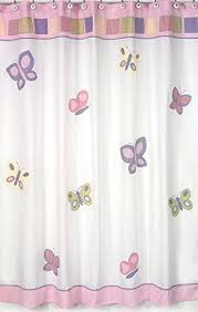 Pink And Purple Curtains Amazon Com Pink And Purple Butterfly Collection Kids Bathroom