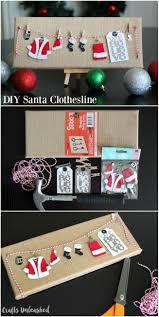 diy christmas decoration santa canvas crafts unleashed diy