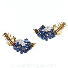 chaumet earrings vintage chaumet sapphire pin bracelet and earring suite