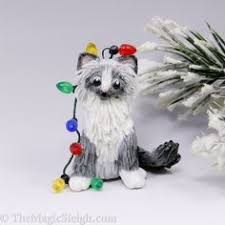 ragdoll cat needle felted miniature cat figurine by craftsbykeri