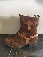 s ugg australia brown grandle boots ugg australia s suede biker boots ebay