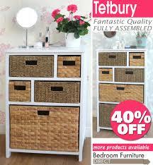 Hall Storage Cabinet Tetbury White Storage Unit Wicker Baskets Bathroom Storage