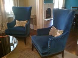 Blue Accent Arm Chair Blue Velvet Tufted Arm Chair Navy Royal Accent Steampunk Victorian
