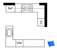l shaped kitchen floor plans with island move the refrig where the dishwasher is in this plan put the