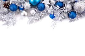 branches decoration with silver and blue balls photo