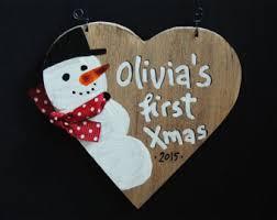 Custom Baby Ornaments Baby Keepsake Baby First Christmas Ornaments Baby First
