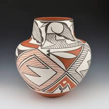 early max jar with fine line patterns