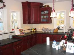 red painted kitchen cabinets amazing value of red kitchen