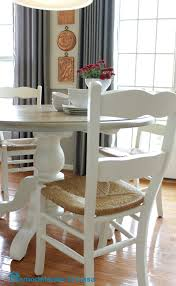 White Kitchen Table by Remodelando La Casa Kitchen Table And Chairs Makeover