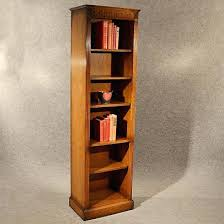 Tall Skinny Bookcase Bookcase Quality Oak Bookcase Tall Narrow Cabinet Library