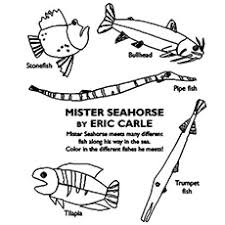eric carle coloring pages sea horse coloring page amazing coloring pages seahorse coloring