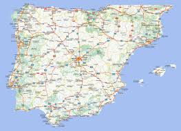 The Map Of Spain by Large Road Map Of Spain And Portugal With Cities Spain Europe
