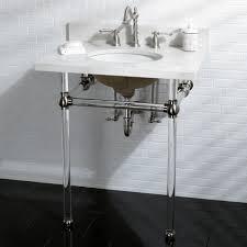 kokols clear vessel sink pedestal shelf bathroom vanity