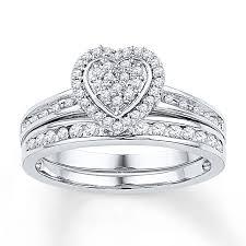 heart bridal rings images Kay diamond bridal set 1 5 ct tw round cut 10k white gold jpg