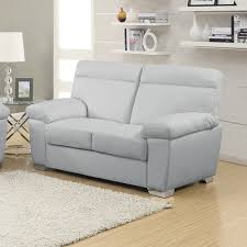 Light Gray Leather Sofa Alto Italian Inspired High Back Leather Light Grey Sofa Collection