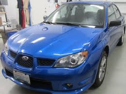 subaru impreza modified blue electric subaru