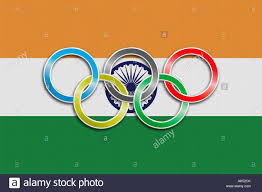 Ak Flag Flag Of India With Olympic Symbol Stock Photo Royalty Free Image