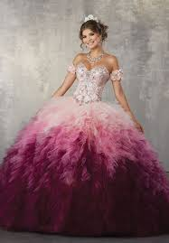 vizcaya quinceanera dresses strapless ombre quinceanera dress by mori vizcaya 89161 abc