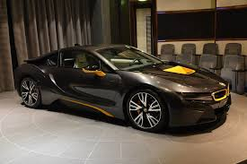 Bmw I8 Blacked Out - individual bmw i8 with yellow highlights shows up in abu dhabi