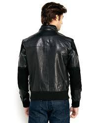 black leather motorcycle jacket prps black leather motorcycle jacket in black for men lyst