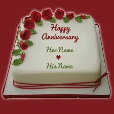 wedding anniversary cakes write your name on anniversary cakes pictures online edit