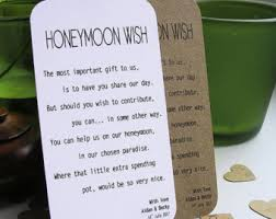 wedding wishes honeymoon honeymoon wish etsy