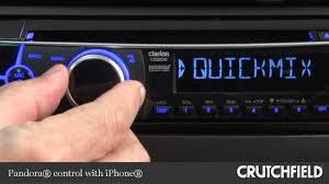 clarion cz202 cd receiver display and controls demo crutchfield