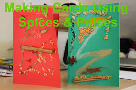 mellow mummy kids craft ideas homemade spice cards taking