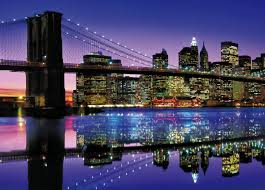 magnificent new york colorful amazing lights night twilight colors