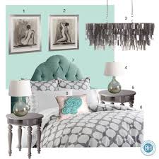 mood board antiguan blue and gray bedroom balancing home with