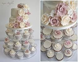 wedding cupcake tower vintage roses lace wedding cupcake tower
