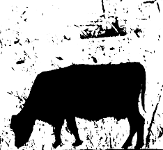 clipart cow silhouette
