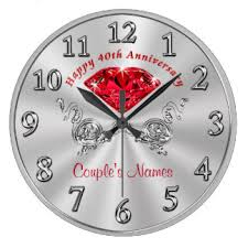 personalized anniversary clock wedding anniversary wall clocks zazzle