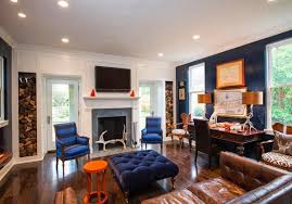 Orange Living Room Chairs by Living Room Design With Color Combination Blue Orange And
