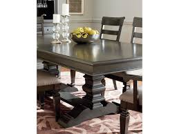 standard furniture garrison trestle table dining set with six