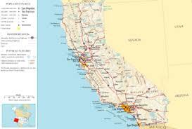 map of cities in california transportation in california