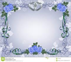 wedding invitation border blue stock photo image 7784960