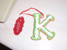 free letter k cookie ornament ne other