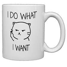 I Do What I Want Meme - com funny mugs i do what i want cat face 11 oz ceramic
