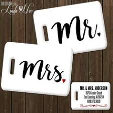 his and hers wedding gifts set of 2 personalized his and hers luggage tags personalized