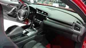 honda civic 2017 interior 2017 honda civic si premieres at los angeles auto show